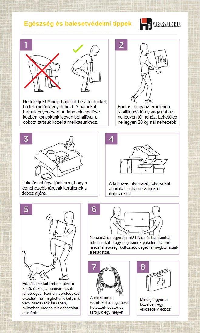 Egészség és balesetvédelmi tippek költözésnél